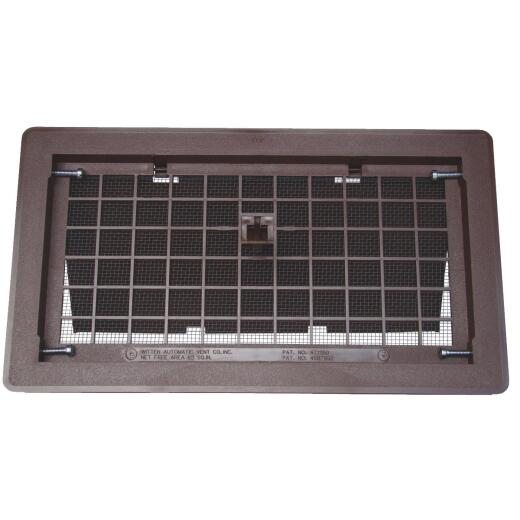 Witten 8 In. x 16 In. Brown Manual Foundation Vent with Damper