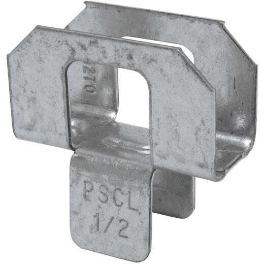 Simpson Strong-Tie 1/2 In. Galvanized Steel 20 ga Plywood Clip