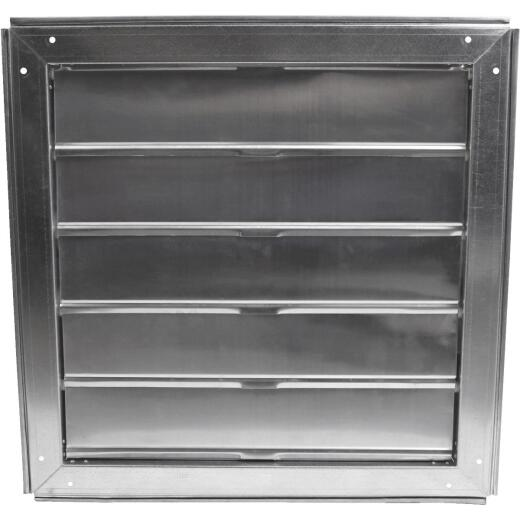 Ventamatic Cool Attic Galvanized Steel, Aluminum Louvers 22 In. W x 22 In. H x 3 In. D Automatic Automatic Gable Shutter