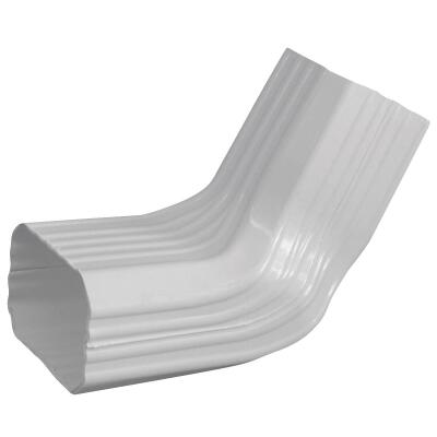 Repla K 2 x 3 In. Vinyl White Front or Side Downspout Elbow