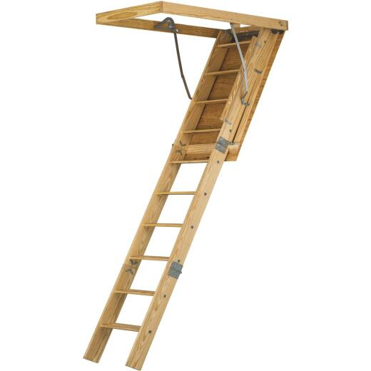 Louisville Spacemaker 8 Ft. 9 In. 30 In. x 54 In. Wood Attic Stairs, 350 Lb. Load