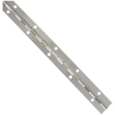 National Steel 1-1/16 In. x 12 In. Nickel Continuous Hinge