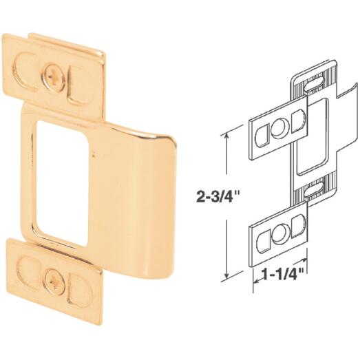Defender Security Small Brass Adjust-A-Strike Plate