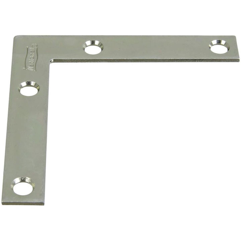 National Catalog 117 3 In. x 1/2 In. Zinc Flat Corner Iron Image 1