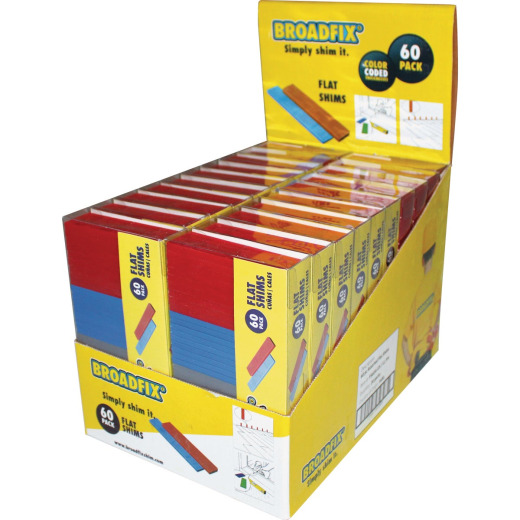 Broadfix 4 In. L Flat Polypropylene Shim, Assorted Thicknesses (60-Count)