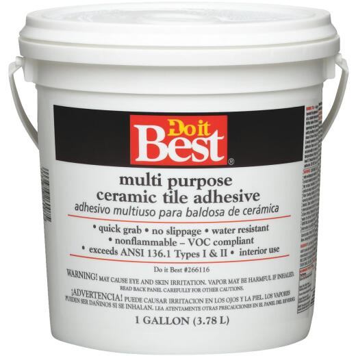 Do it Best Off-White Multi Purpose Ceramic Tile Adhesive (Gallon)