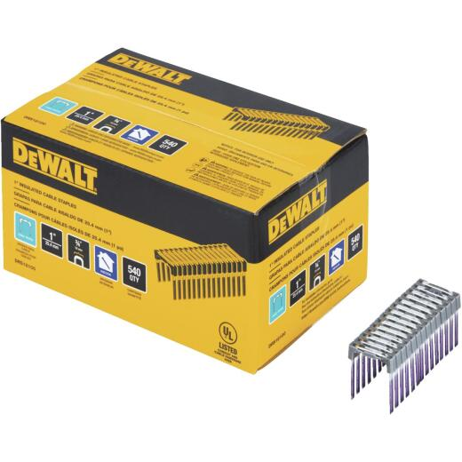 DeWalt 1 In. x 3/4 In. Insulated Cable Staples (540-Count)