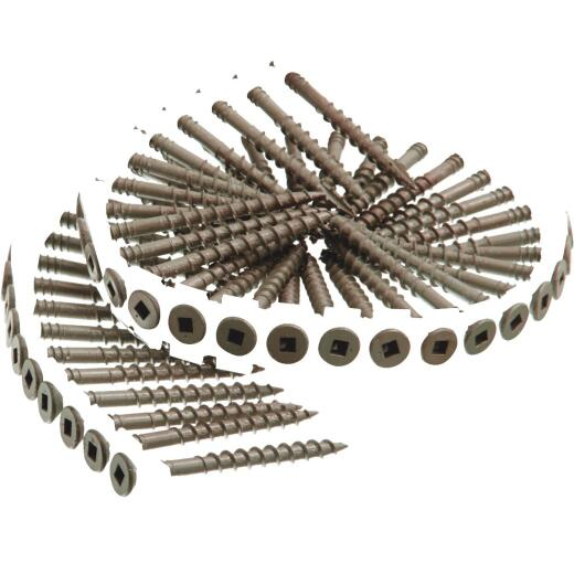Senco DuraSpin #8 x 2 In. Square Drive Flat Collated Deck Screw, Exterior/Tan Finish (1000 Ct.)