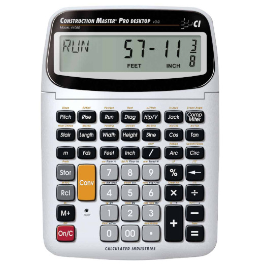 Calculated Industries Construction Master Pro Desktop Project Calculator