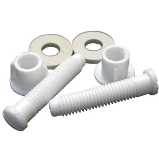 "Lasco 7/17"" x 2-1/8"" White Plastic Toilet Seat Bolt, Includes Nuts and Washers"