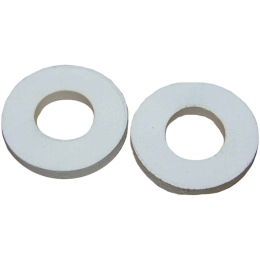 Lasco White Rubber Toilet Seat Hinge Washer