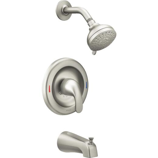 Moen Adler Brushed Nickel Single-Handle Lever Posi-Temp Tub and Shower Faucet