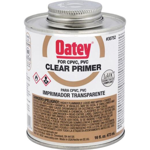 Oatey 16 Oz. Clear Pipe and Fitting Primer for PVC/CPVC