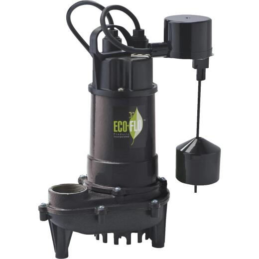 ECO-FLO 1/2 HP Submersible Cast Iron Sump Pump