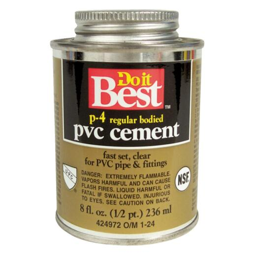 Do it Best 8 Oz. Regular Bodied Clear PVC Cement
