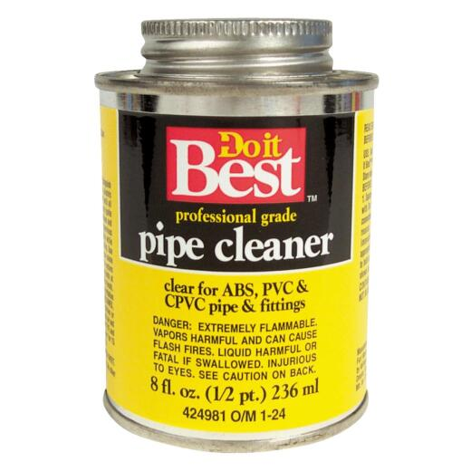 Do it Best 8 Oz. All-Purpose Pipe Clear PVC Cleaner