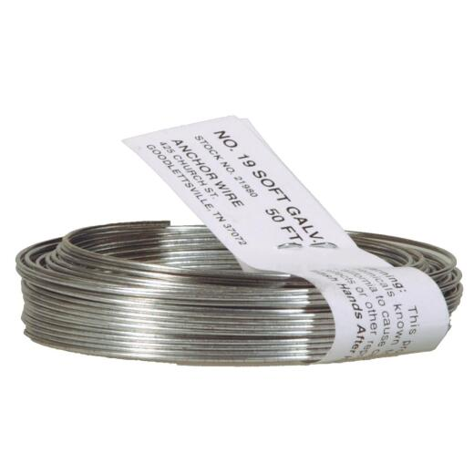 HILLMAN Anchor Wire 50 Ft. 20 Ga. Black StovePipe And Mechanics General-Purpose Wire