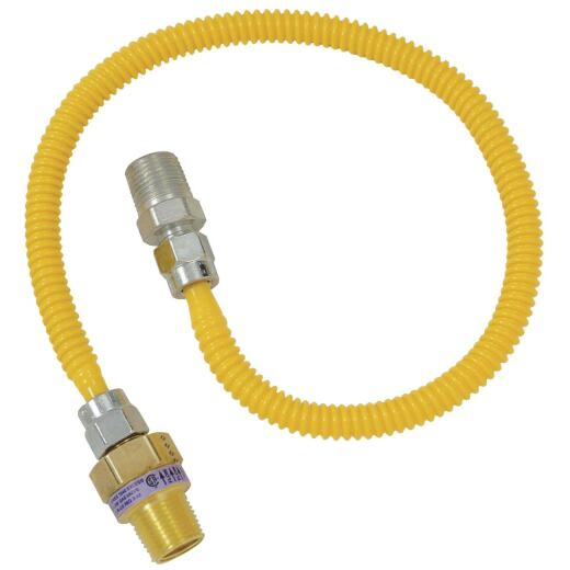 BrassCraft Safety +PLUS 3/8 In. 1/4 In. 36 In. Gas Connector