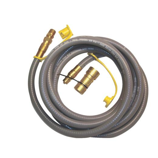 MR. HEATER 12 Ft. 3/8 In. Thermoplastic Natural/Propane Gas Patio Hose Assembly