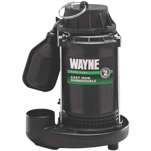 Wayne 1/2 HP 115V Cast-Iron Submersible Sump Pump