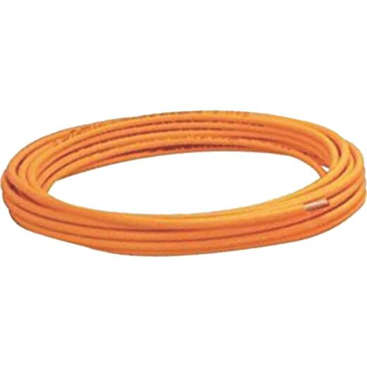 Mueller Streamline 1/2 In. OD x 50 Ft. Orange Plastic Coated ACR Copper Tubing