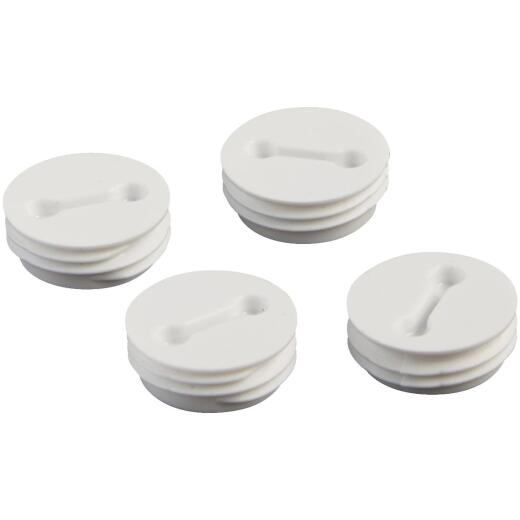 Bell 1/2 In. Weatherproof White Closure Plug (4-Pack)