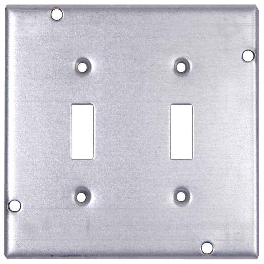 Steel City 2-Toggle Switch 4-11/16 In. x 4-11/16 In. Square Device Cover