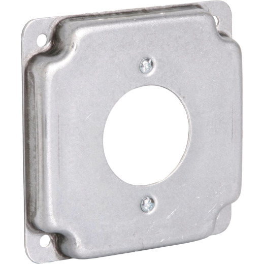 Raco 1.719 In. Dia. Receptacle 4 In. x 4 In. Square Device Cover