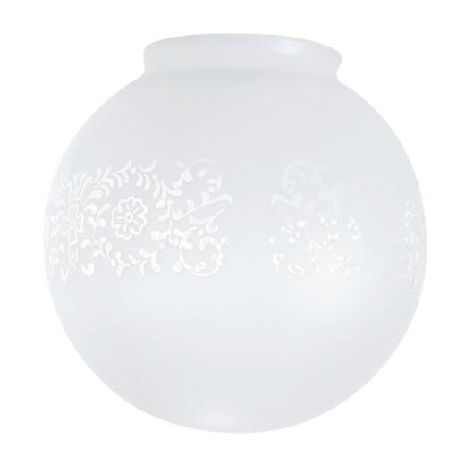 Westinghouse Frosted 3-1/4 In. x 6 In. Victorian Glass Ceiling Globe Shade