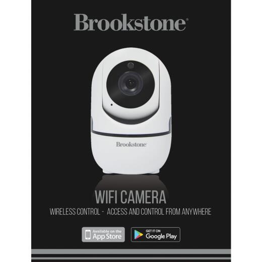 Brookstone Plug-In Indoor White Pan & Tilt Wi-Fi Security Camera