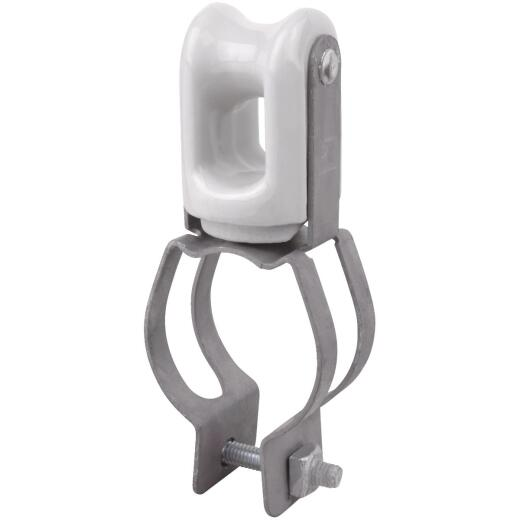 Carlon 1-1/4 In. to 1-1/2 In. Pipe Mount Porcelain & Steel Wire Holder