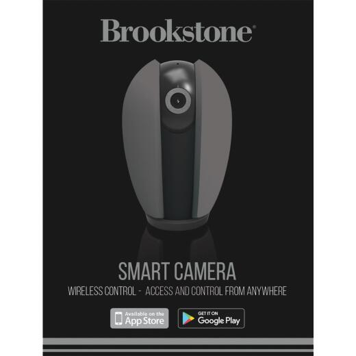 Brookstone Plug-In Indoor Gray Pan & Tilt Smart Security Camera