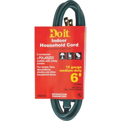 Do it 6 Ft. 16/2 Green Cube Tap Extension Cord