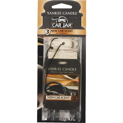 Yankee Candle Car Jar Classic Car Air Freshener, New Car Scent (3-Pack)