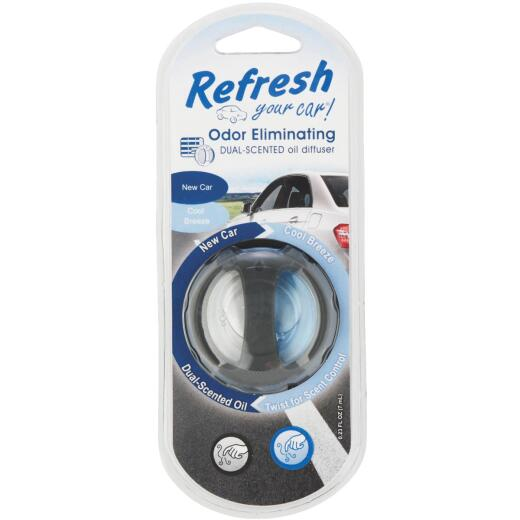 Refresh Your Car Oil Diffuser Car Air Freshener, New Car/Cool Breeze