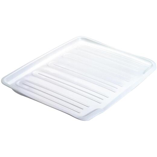 Rubbermaid 14.7 In. x 18 In. White Sloped Drainer Tray