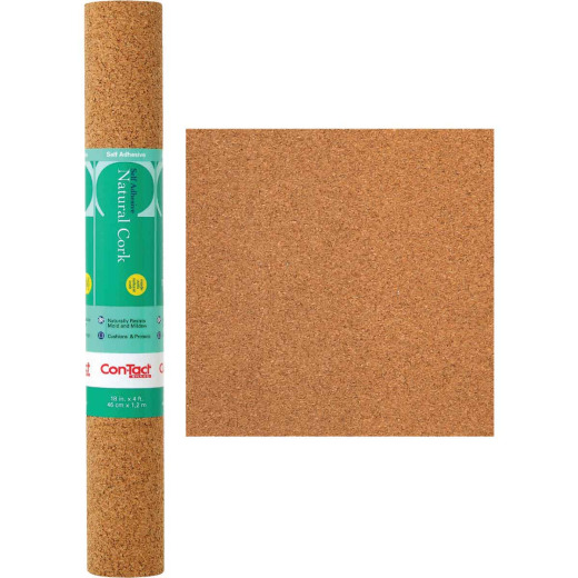 Con-Tact 18 In. x 4 Ft. Cork Self-Adhesive Shelf Liner