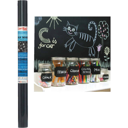Con-Tact 18 In. x 6 Ft. Chalkboard Self-Adhesive Shelf Liner