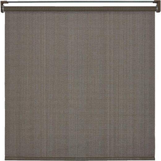 Home Impressions 96 In. x 72 In. Brown Fabric Indoor/Outdoor Cordless Roller Shade