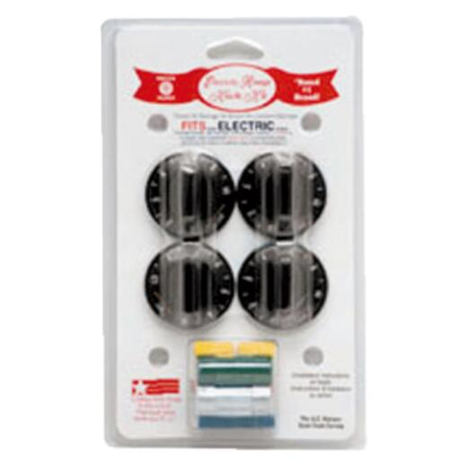 Range Kleen Black Replacement Electric Range Knob Kit (4 Piece)