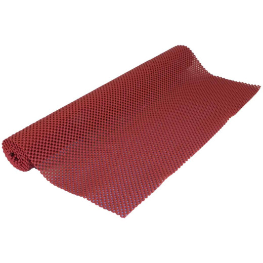 Con-Tact 20 In. x 4 Ft. Red Grip Premium Non-Adhesive Shelf Liner