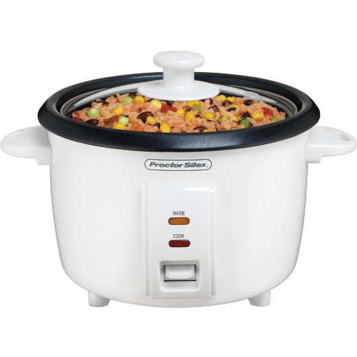 Proctor Silex 8 Cup White Rice Cooker