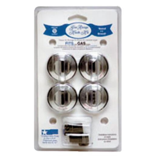 Range Kleen Chrome Gas Range Knob (4-Pack)