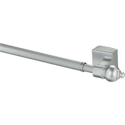 Kenney 16 In. To 28 In. 7/16 In. Petite Magnetic Cafe Rod, Satin Silver