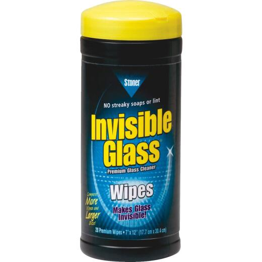 Stoner Invisible Glass Glass Cleaner Wipes (28-Count)