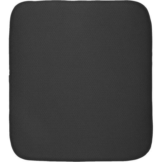 iDesign iDry 16 In. x 18 In. Black Microfiber Drying Sink Mat