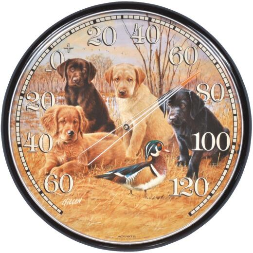 "Acurite 12-1/2"" Dia Plastic Dial Puppy Indoor & Outdoor Thermometer"