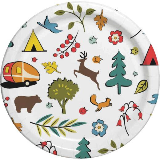 Camp Casual 8.5 In. Eco-Friendly Into the Woods Design Paper Plates (24 Count)