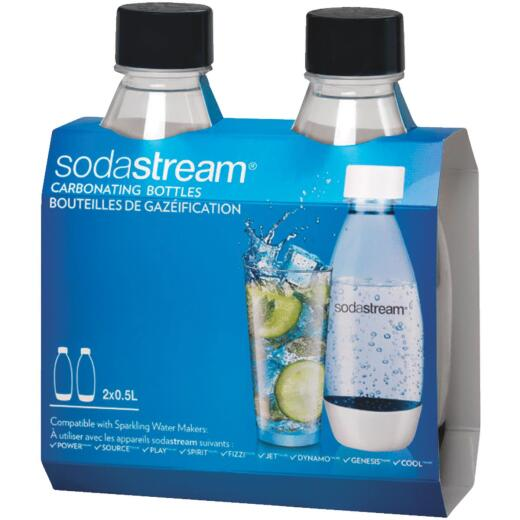 SodaStream 1/2 Liter Carbonating Bottle (2-Pack)