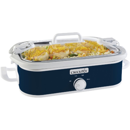 Crock-Pot Casserole Crock 3.5 Qt. Navy Blue Slow Cooker